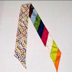 Coach Accessories - Authentic Coach multicolored hair tie/ headband!